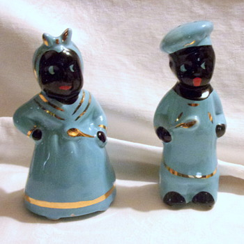 Aunt Jemima and Uncle Moses Blue Shakers - Kitchen