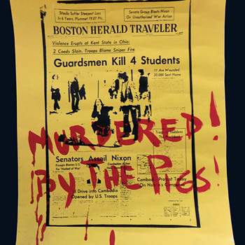 MAY 5th 1970 Hand-Serigraphed Kent State Shooting (Massacre) Poster