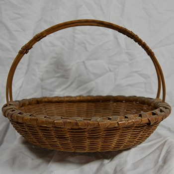 Unknown Thick Cane Basket Native American or New England