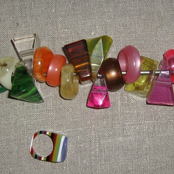 Better picture of 1970's lucite rings
