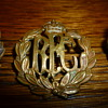 British WWI and WWII Air Force cap badges.