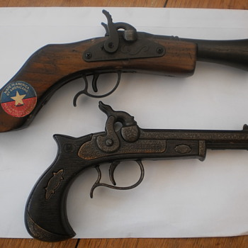 Parris vintage musket cap gun and Emg Derringer cap gun