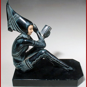 Pixie Girl Bookend - Art Deco
