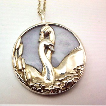 Silver chain and pendant by Norman Grant