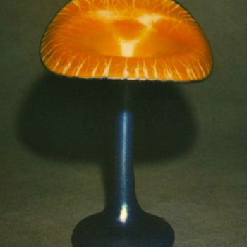 QUEZAL JACK-IN-THE-PULPIT ART GLASS VASE, circa 1915