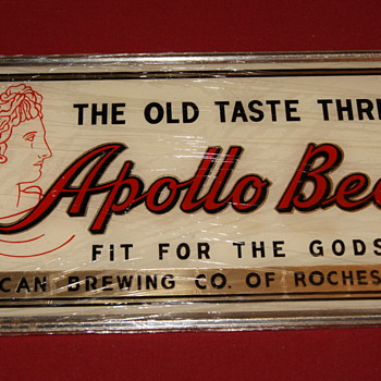 Apollo Beer (reverse on glass) - Breweriana