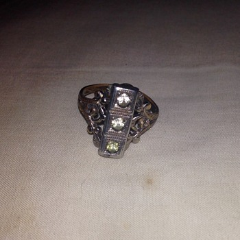 Art Deco-ish diamond (?) ring - Thrift store find for $1