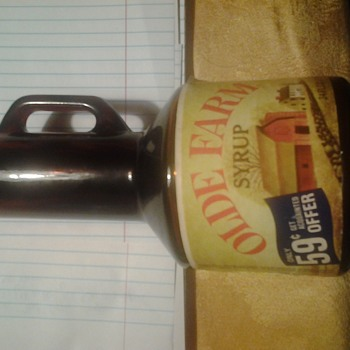 olde farm syrup bottle