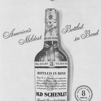 1950 Old Schenley Advertisement - Advertising