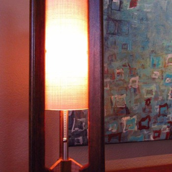 Retro Grain Lamp - Hand Made in Arizona - Mid Century Modern