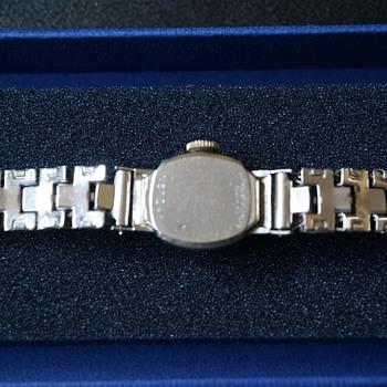 Vintage Bulova Rhapsody White Gold Ladies Wristwatch
