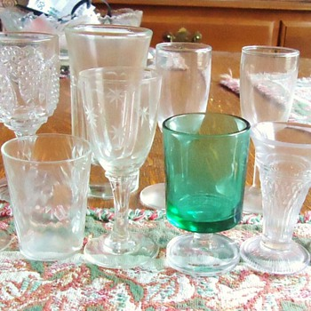 little old glasses  France and MMA? - Glassware