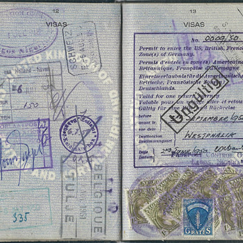 Passport with a 1950 AMG visa issued at Nigeria - Paper