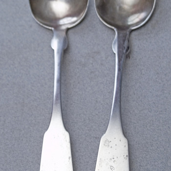Coin silver spoons from family, Ebenezer Knowlton Lakeman