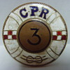 Canadian Pacific Line / Canadian Pacific Railway Co. (CPR) Enamel badge with number three in the shape of a life ring