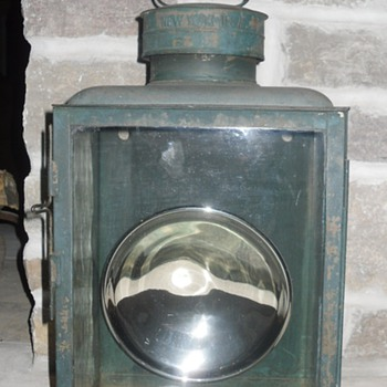 Dietz No.2 Railroad Station Box Lamp/Lantern - Railroadiana