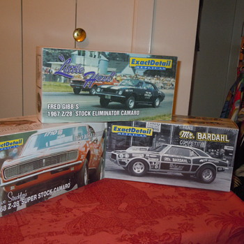 Three of the eight Exact Detail limited edition Camaros I am currently trying to assemble.  - Model Cars