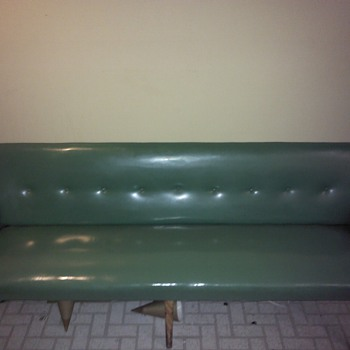 Green Vinyl bench - Furniture