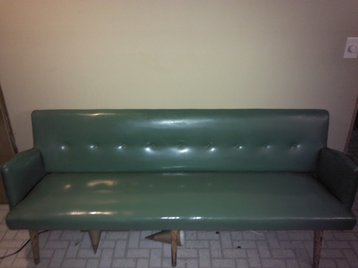 Green Vinyl Bench Collectors Weekly
