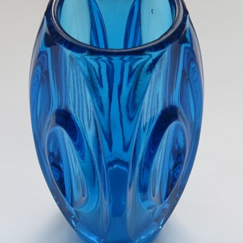Czech Art Glass Bullet Vase