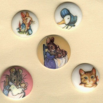 Beatrix Potter buttons