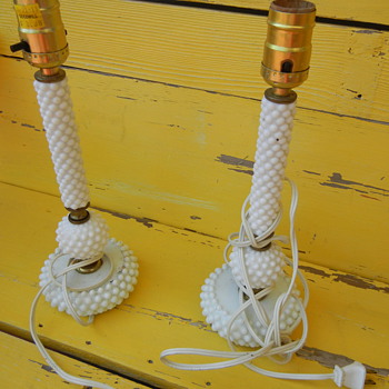 Hobnail Milk Glass lamps?