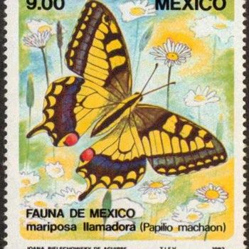 "Mexico - ""Butterfly"" Postage Stamp - Stamps"