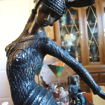 Bronze!  Dancing Woman!!  23 inches and 15 pounds!  pretty