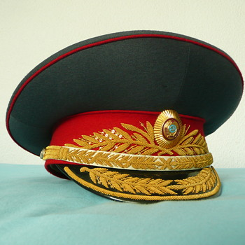 Soviet Parade Visor Cap of a Military Police General
