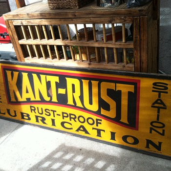 KANT- RUST LUBRICATION TIN SIGN - Petroliana
