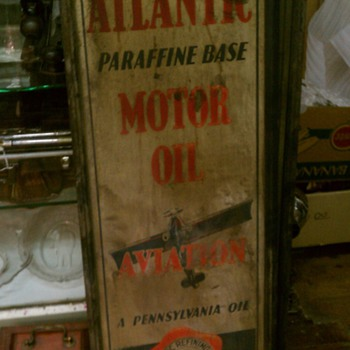 Atlantic Aviation Motor Oil - Petroliana