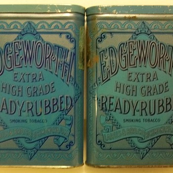 Edgeworth Pocket Tobacco Tins - Tobacciana