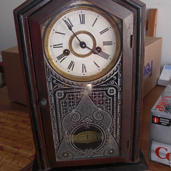 VINTAGE ANSONIA CLOCK. NEED HELP TO I.D.