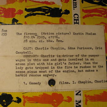 "Charlie Chaplin Movie ""Tha Fireman""  Blackhawk 8 mm film"