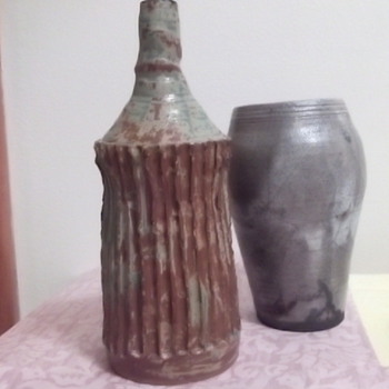 Pottery Vases Collection - All 5 Signed Schiff?  - Art Pottery