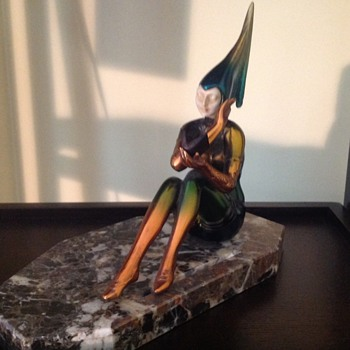 Fairy bronze figurine
