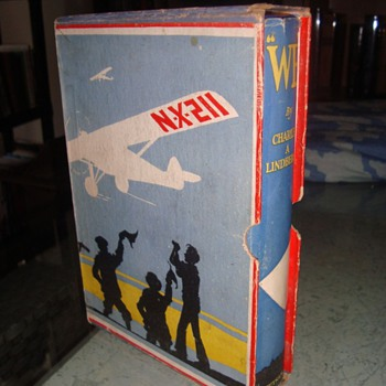 """We"" by Charles Lindberg, from 1927 in slipcase and dust jacket - Books"