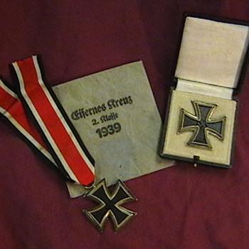WW II Iron Cross 1st class and 2nd class