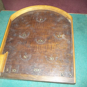 Old wood tabletop PinBall game - Games