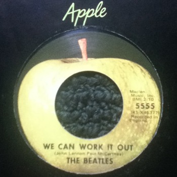 "The Beatles - ""We Can Work It Out"" & ""Day Tripper"" 45 Record - Records"