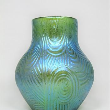 Loetz crete Spiraloptisch ca. 1905 PN II - 1202  - Art Glass