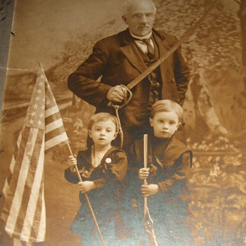Spanish American War era Patriotic photograph - Photographs