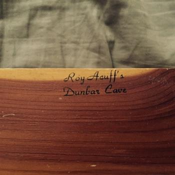 Roy Acuff's Dunbar Cave cedar box - Music Memorabilia