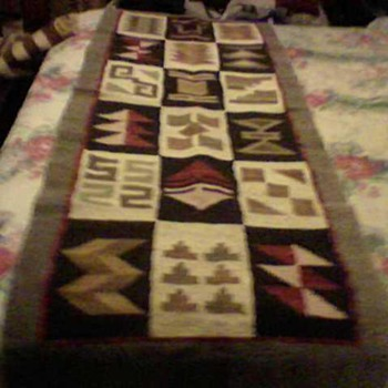 TWO NAVAJO RUGS - Native American
