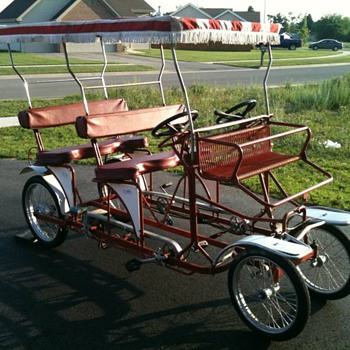 Italian Surrey Quadricycle Pedal Bike - Outdoor Sports