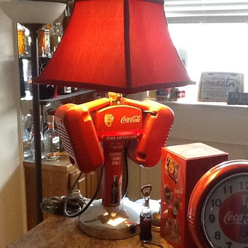Coca Cola Cast Iron Lamp/can anyone tell me about this lamp I have? - Coca-Cola