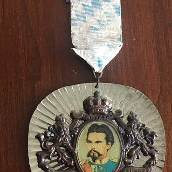 Vintage King Ludwig German Badge Medal Award - Medals Pins and Badges