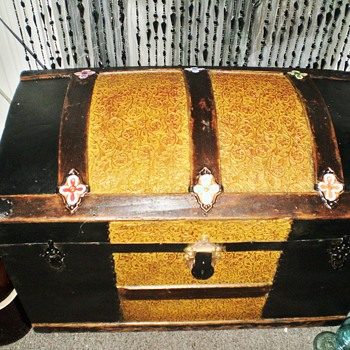 "Small ""Princess"" Steamer Trunk by Schmit Trunk Co., Oshkosh, WI"