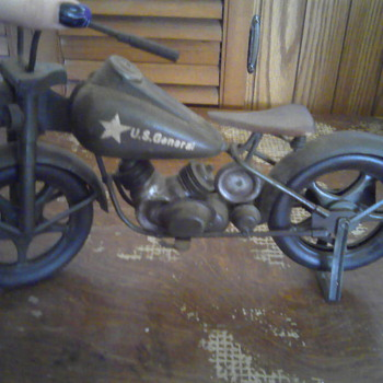 U.S general harley motor cycle toy