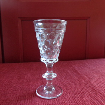 Vintage Pressed Bubble Sherry Glass